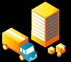 camion et cartons de demenagement
